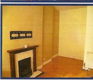 Living room of the buy to let property as shown in the estate agents schedule
