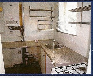 The kitchen of the buy to let property as shown in the estate agents schedule