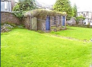 Back garden of the buy to let property as shown in the estate agents schedule